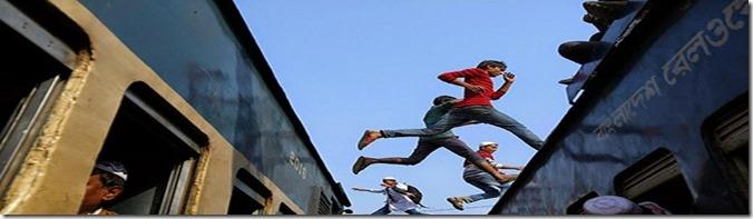 saltando tren